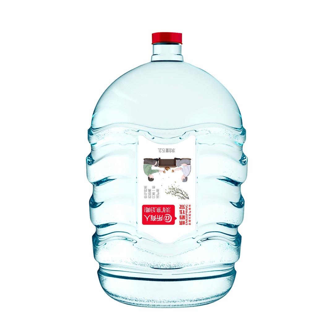 峨眉钰泉 饮用天然淡矿泉水一次性桶装水15.2升(不回收桶)
